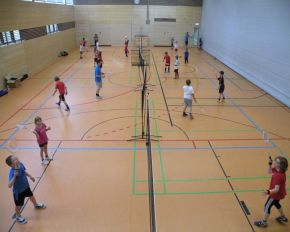 Schulsport in der Halle