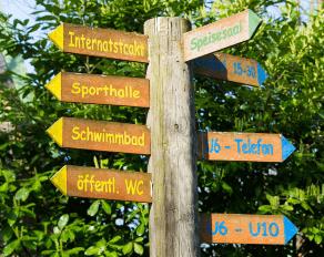 Sport- und Erlebnisdorf Hinsbeck Schild