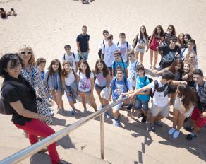 Sprachunterricht am Strand