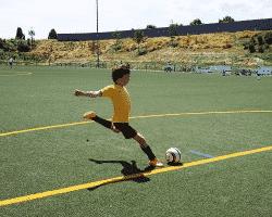 Fussballcamps macht Kindern Spaß.
