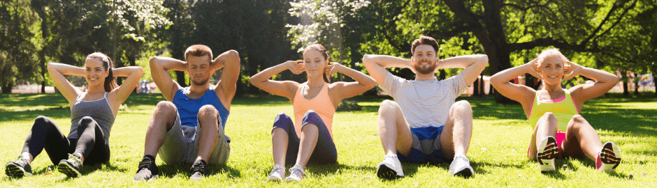 Move-It beste Sport zum Abnehmen Gruppe Sit-Up