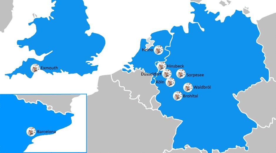 Karte Unterkünfte